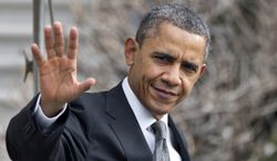 President Obama waves Feb. 13, 2013, as he leaves the White House for Arden, N.C. (Associated Press)