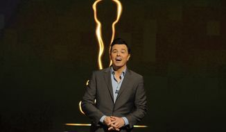 ** FILE ** Seth MacFarlane announces the nominations for the 85th Academy Awards in Beverly Hills, Calif., on Thursday, Jan. 10, 2013. Mr. MacFarlane will host the Feb. 24 awards ceremony. (Chris Pizzello/Invision/AP Photo)