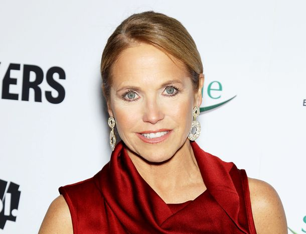 """TV personality Katie Couric attends the premiere of """"Makers: Women Who Make America"""" at Alice Tully Hall at Lincoln Center in New York"""