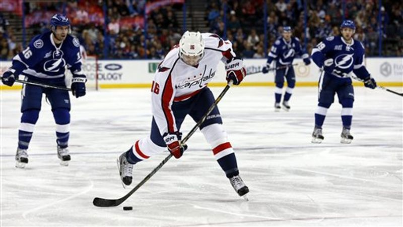 Capitals forward Eric Fehr scored goals in back-to-back games this week, the first since October 2011 he has done that. (Associated Press)
