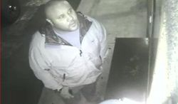 This image provided by the Irvine Police Department shows Christopher Dorner from Jan. 28, 2013, surveillance video at an Orange County, Calif., hotel. More than 100 officers, including SWAT teams, were driven in glass-enclosed snow machines and armored personnel carriers in Big Bear Lake to hunt for this former Los Angeles police officer suspected of going on a deadly rampage to get back at those he blamed for ending his police career. (AP Photo/Irvine Police Department)
