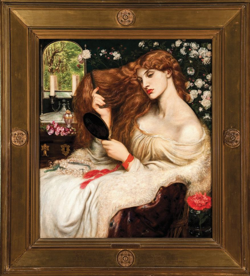"""Lady Lillith"" is among Dante Gabriel Rossetti's sensual portraits of women. (Bridgeman Art Library)"