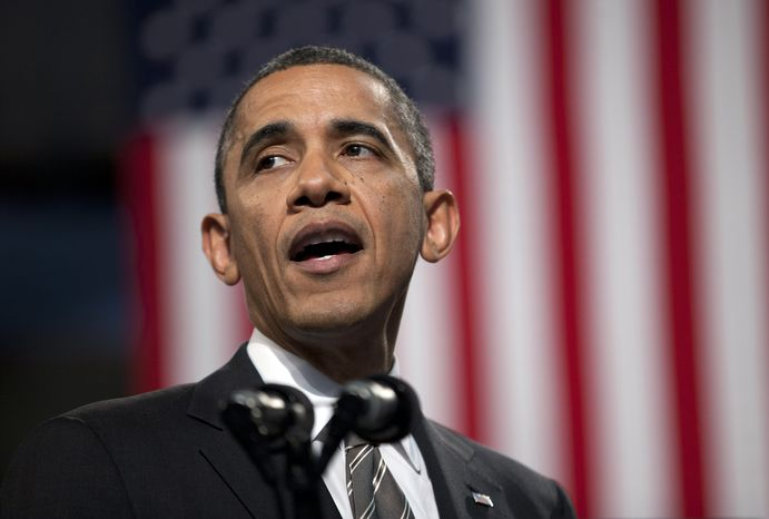 ** FILE ** President Obama speaks at the Hyde Park Academy in Chicago, Feb. 15, 2013. (Associated Press)