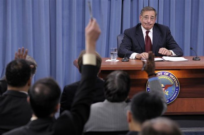 Outgoing Defense Secretary Leon Panetta listens during his last news conference as defense secretary, Wednesday, Feb. 13, 2013. at the Pentagon. On Tuesday, The Senate Armed Services Committee voted to approve Panetta's replacement, former Nebraska Republican Sen. Chuck Hagel, sending the nomination to the full Senate. (AP Photo/Susan Walsh)
