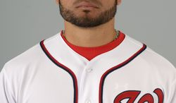 This is a 2013 photo of Henry Rodriguez of the Washington Nationals baseball team. This image reflects the Nationals active roster as of Feb. 20, 2013 when this image was taken.(AP Photo/Phelan M. Ebenhack)