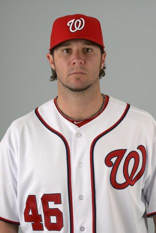 This is a 2013 photo of Micah Owings of the Washington Nationals baseball team. This image reflects the Nationals active roster as of Feb. 20, 2013 when this image was taken.(AP Photo/Phelan M. Ebenhack)