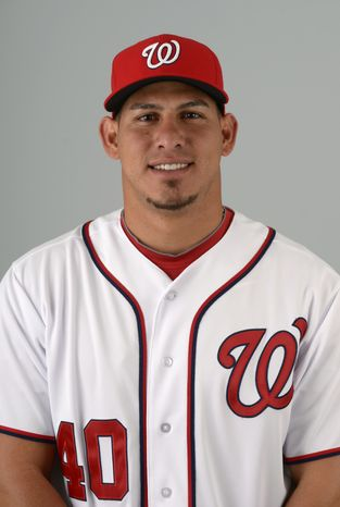 This is a 2013 photo of Wilson Ramos of the Washington Nationals baseball team. This image reflects the Nationals active roster as of Feb. 20, 20