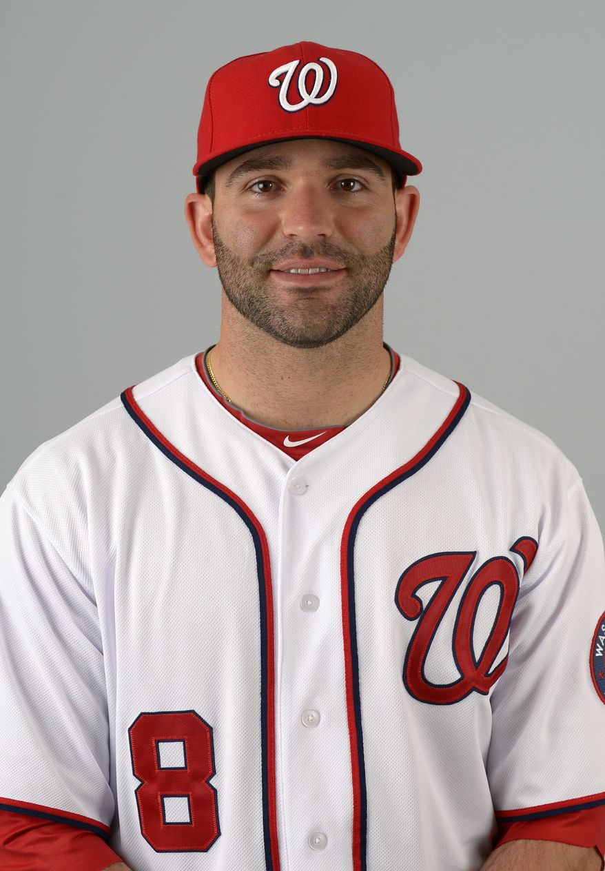 This is a 2013 photo of Danny Espinosa of the Washington Nationals baseball team. This image reflects the Nationals active roster as of Feb. 20, 2013 when this image was taken.(AP Photo/Phelan M. Ebenhack)
