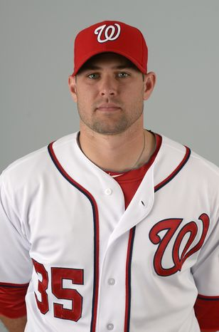 This is a 2013 photo of Craig Stammen of the Washington Nationals baseball team. This image reflects the Nationals active roster as of Feb. 20, 2013 when this image was taken.(AP Photo/Phelan M. Ebenhack)