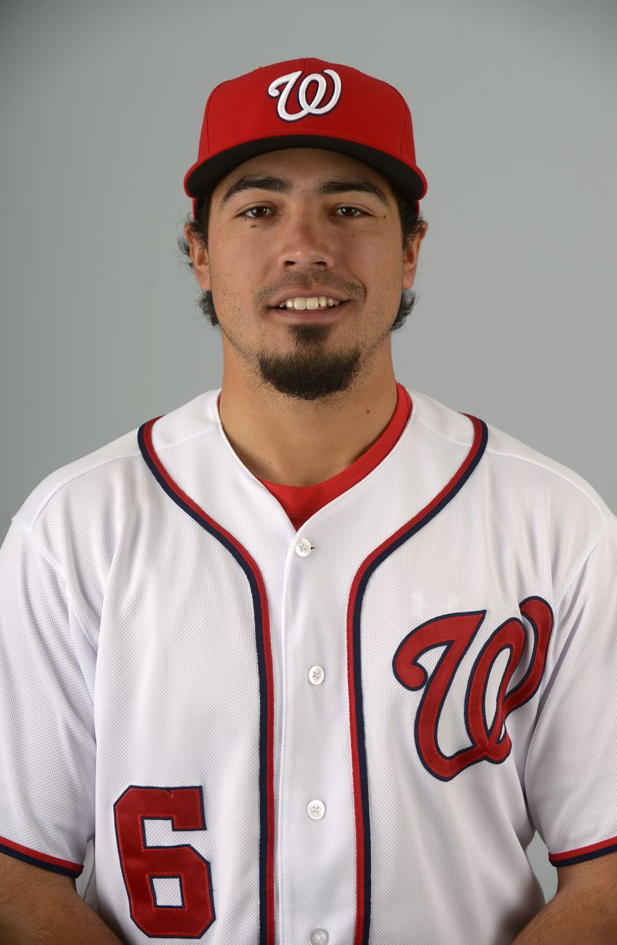 This is a 2013 photo of Anthony Rendon of the Washington Nationals baseball team. This image reflects the Nationals active roster as of Feb. 20, 2013 when this image was taken.(AP Photo/Phelan M. Ebenhack)