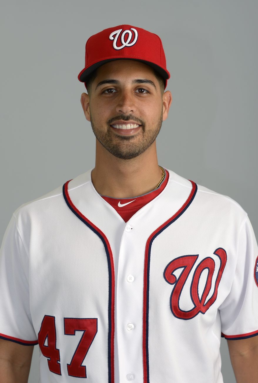 This is a 2013 photo of Gio Gonzalez of the Washington Nationals baseball team. This image reflects the Nationals active roster as of Feb. 20, 2013 when this image was taken.(AP Photo/Phelan M. Ebenhack)