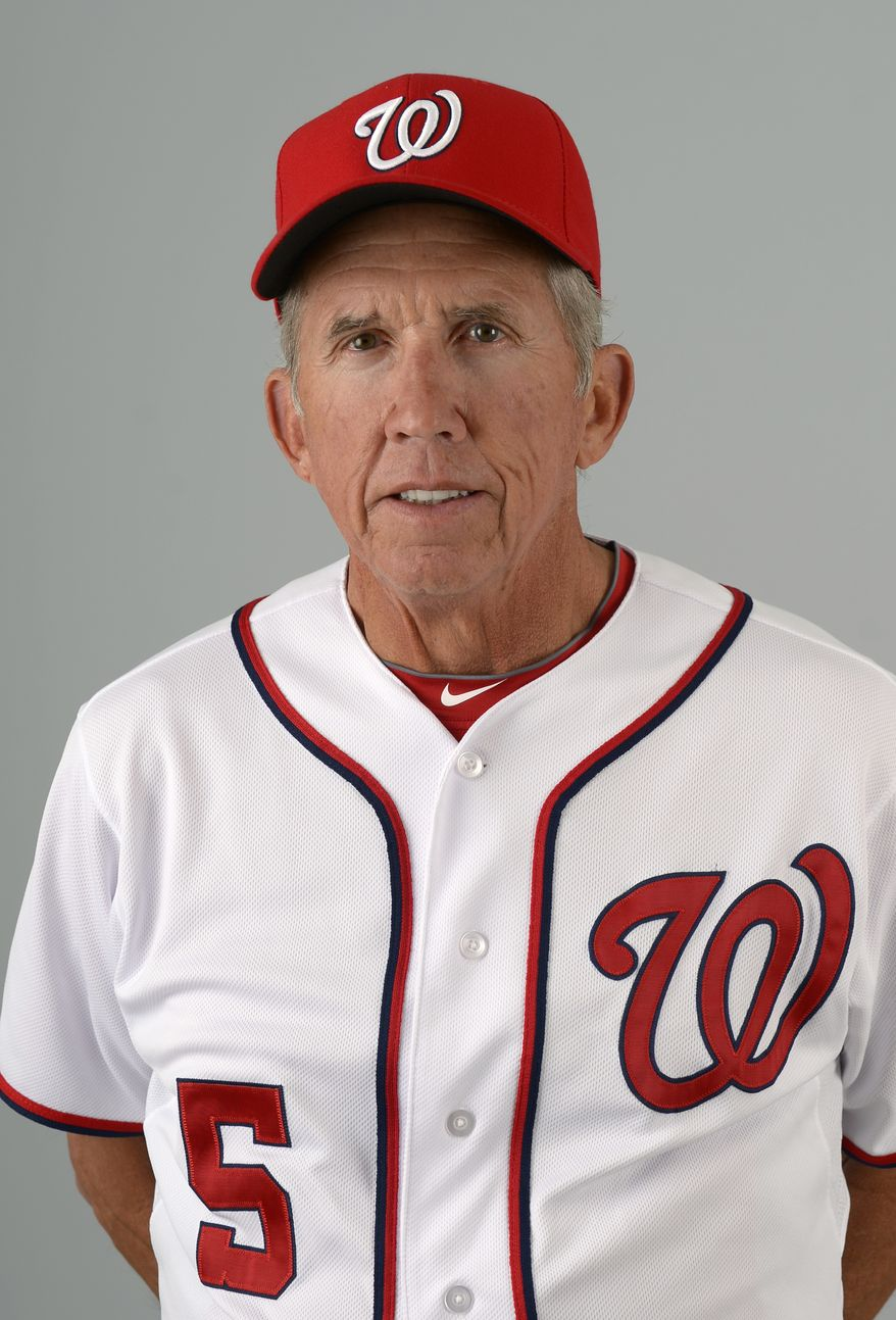 This is a 2013 photo of Davey Johnson of the Washington Nationals baseball team. This image reflects the Nationals active roster as of Feb. 20, 2013 when this image was taken.(AP Photo/Phelan M. Ebenhack)