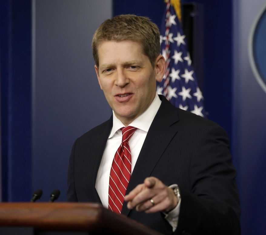 White House spokesman Jay Carney takes questions during his daily news briefing at the White House in Washington on Feb., 25, 2013. (Associated Press)