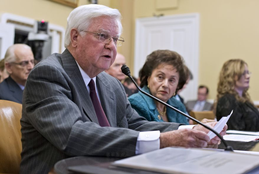 **FILE** House Appropriations Committee Chairman Rep. Hal Rogers (left), Kentucky Republican, testifies before the House Rules Committee at the Capitol in Washington on Jan. 14, 2013. (Associated Press)