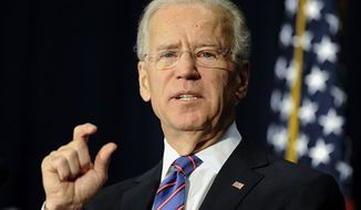** FILE ** Vice President Joe Biden speaks at a gun violence conference in Danbury, Conn. Gov. Dannel P. Malloy also addressed the event organized by the state's congressional delegation to push President Barack Obama's gun control proposals. Thursday, Feb. 21, 2013.