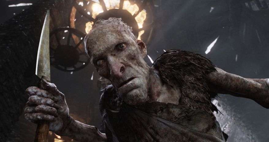 Cook, voiced by Philip Philmar, is among the legion of angry giants unleashed on Earth by the arrival of Jack to reignite an ancient war for a kingdom. (Warner Bros. via Associated Press)