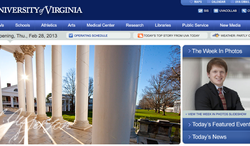 (Screenshot of the University of Virginia website)
