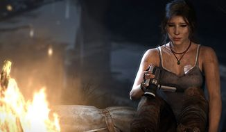 Players are introduced to a more fragile Lara Croft in the video game Tomb Raider.