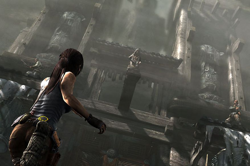 Lara Croft explores many an ancient temple in the video game Tomb Raider.