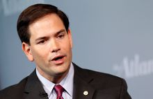 Sen. Marco Rubio, Florida Republican, is advocating a more muscular brand of global leadership and observers said it is significant that he tapped Jamie Fly, an adviser to former President George W. Bush, as a counselor on foreign affairs and national security. (Associated Press)