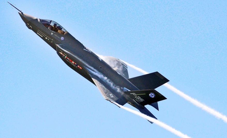 The F-35 Lightning was put into the manufacturing process before the Pentagon conducted test flights to detect and correct problems. (U.S. Air Force via Associated Press)