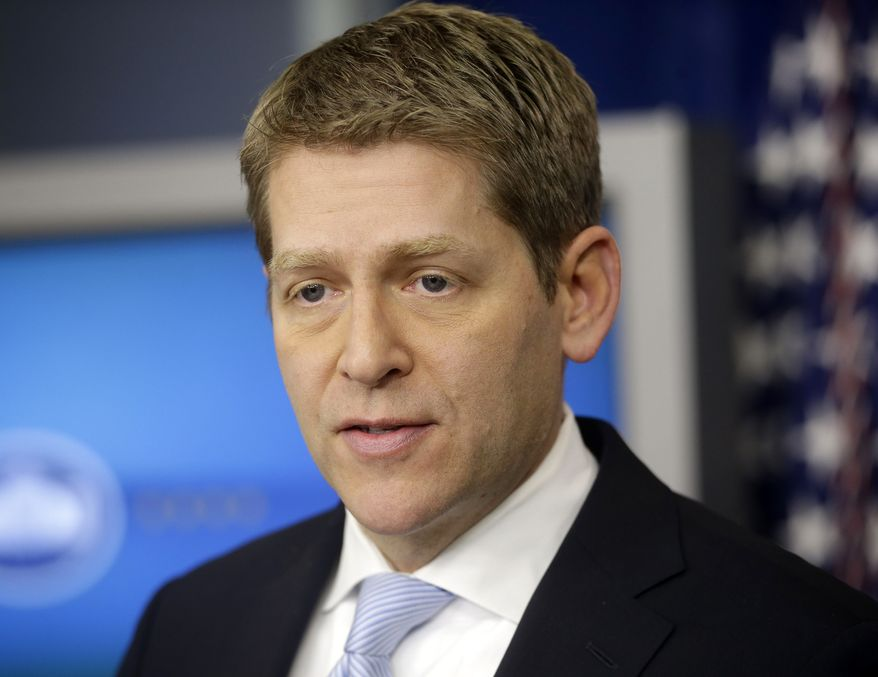 **FILE** White House press secretary Jay Carney speaks during his daily news briefing at the White House in Washington on March 5, 2013. (Associated Press)