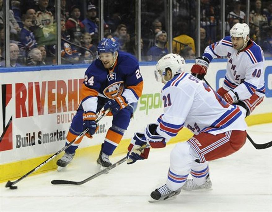 The Rangers claimed defenseman Roman Hamrlik (No. 40) off waivers from the Capitals on March 6. He was a healthy scratch March 10 in Washington. (Associated Press)