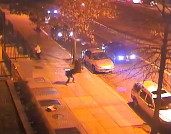 D.C. police released surveillance video of a March shooting near the intersection of New York Avenue and North Capitol Street.