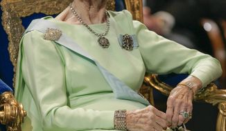 Princess Lilian of Sweden is seen in Stockholm in 2005. (AP Photo/Henrik Montgomery)
