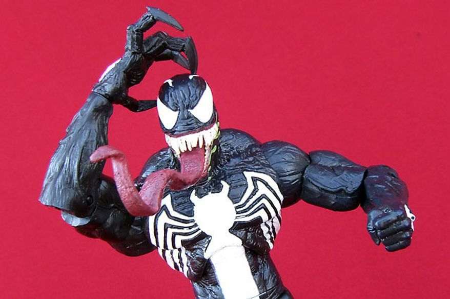 A crazed Venom From Diamond Select Toys (Photograph by Joseph Szadkowski / The Washington Times)