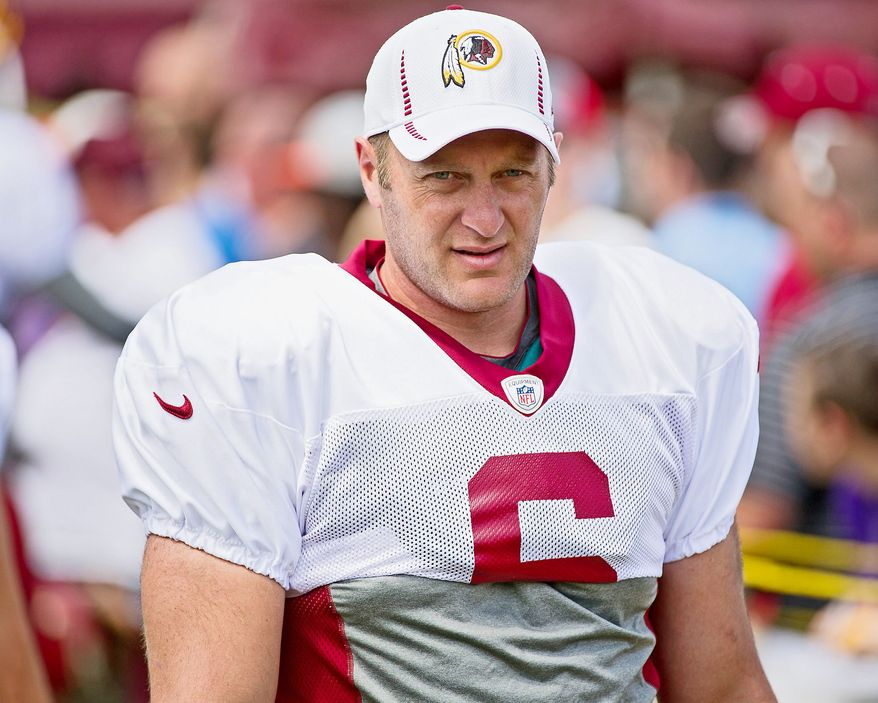 The Redskins, hampered by a significant salary cap penalty, were able to officially bring back punter Sav Rocca. (Andrew Harnik/The Washington Times)