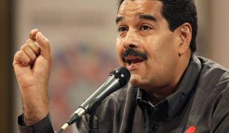 ** FILE ** Venezuelan President Nicolas Maduro (Associated Press)