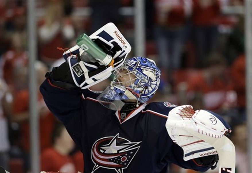 Sergei Bobrovsky and the Columbus Blue Jackets are moving to the Eastern Conference beginning with the 2013-14 season. (Associated Press)