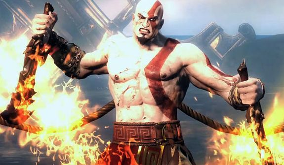 An enraged Kratos (so what else is new?) stars in the video game God of War: Ascension.