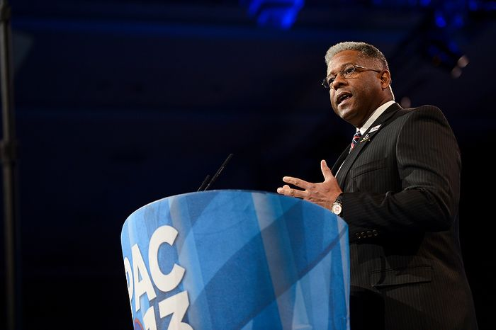 Former Rep. Allen West (R-Fla.) speaks at this year's Conservative Political Action Conference (C.P.A.C.) held at the Gaylord National Hotel, National Harbor, Md., Thursday, March 14, 2013. (Andrew Harnik/The Washington Times)