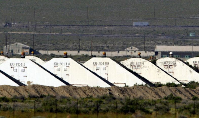 ** FILE ** Storage bunkers at the U.S. Army Depot in Hawthorne, Nev., are pictured in 2005. Seven Marines from a North Carolina unit were killed and several injured in a training accident at the depot, the Marine Corps said on Tuesday, March 19, 2013. The cause of the accident, which occurred shortly before 10 p.m. PST Monday, is under investigation, officials said in a statement from the 2nd Marine Expeditionary Force at Camp LeJeune, N.C. The Hawthorne Army Depot, which stores and disposes of ammunition, is made up of hundreds of buildings spread over more than 230 square miles. (AP Photo/Joe Cavaretta)