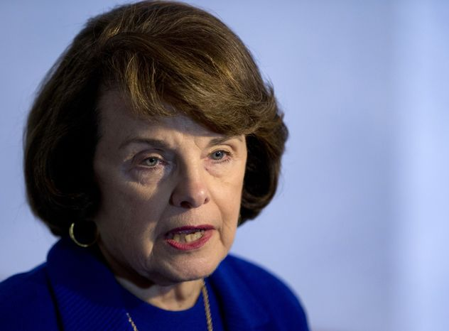 **FILE** Sen. Dianne Feinstein, California Democrat (Associated Press)