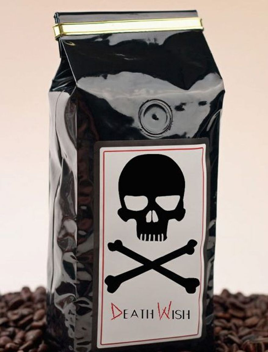 Ideal for weary political operatives, perhaps, Death Wish Coffee has three times the caffeine as the typical brew. (Courtesy of Death Wish Coffee)