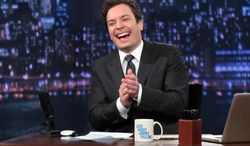 """Jimmy Fallon hosts """"Late Night With Jimmy Fallon"""" from New York on Thursday, Feb. 21, 2013. (AP Photo/NBC, Lloyd Bishop)"""
