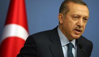 ** FILE ** Turkish Prime Minister Recep Tayyip Erdogan. (AP Photo/Burhan Ozbilici)
