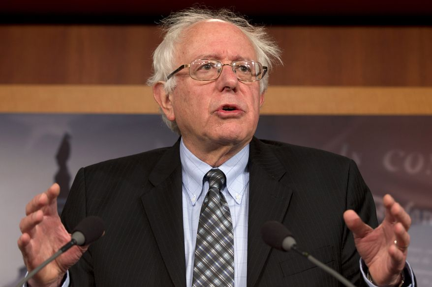 ** FILE ** Sen. Bernard Sanders, Vermont independent, speaks during a news conference on Capitol Hill in Washington on Dec. 6, 2012. (Associated Press)