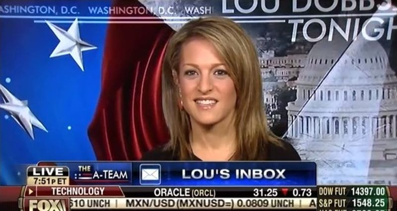 "Emily Miller on Fox Business Channel's ""Lou Dobbs Tonight."" March 25, 20"