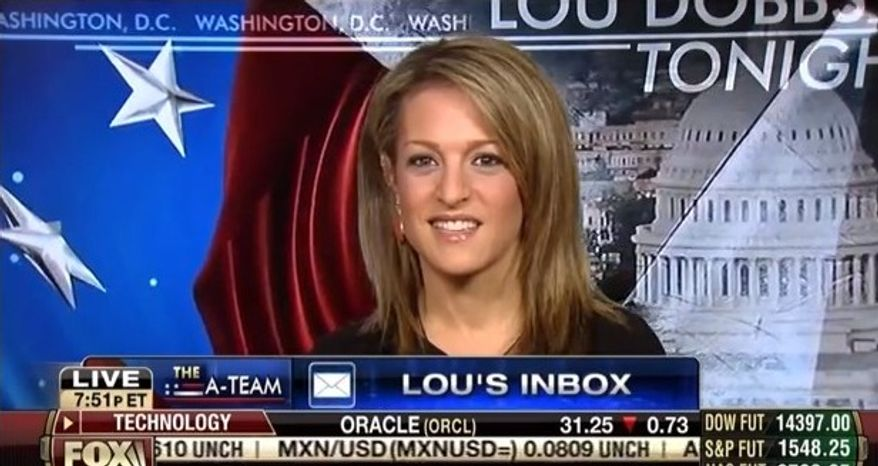 "Emily Miller on Fox Business Channel's ""Lou Dobbs Tonight."" March 25, 2013"