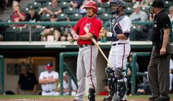 Infielder Anthony Rendon (above), the Nationals' top draft pick in 2011, will start the season in Double-A, but he could get called up at some point this season. Rendon's path to Washington is a little more clear than that of fellow infielder Zach Walters, who impressed the organization by hitting .297 during spring training. (Andrew Harnik/The Washington Times)