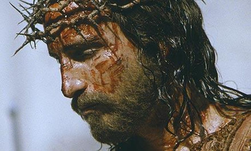 "Actor Jim Caviezel portraying Jesus in ""The Passion of the Christ."" (Associated Press)"