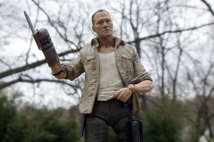 Merle Dixon and his unique weapon star in McFarlane Toys' The Walking Dead: TV Series 3 collection.