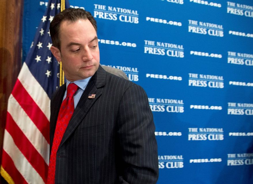 IN HOT SEAT: Reince Priebus has been the target of criticism over a 2012 election post-mortem report that has riled Republican Party conservatives. (Associated Press)