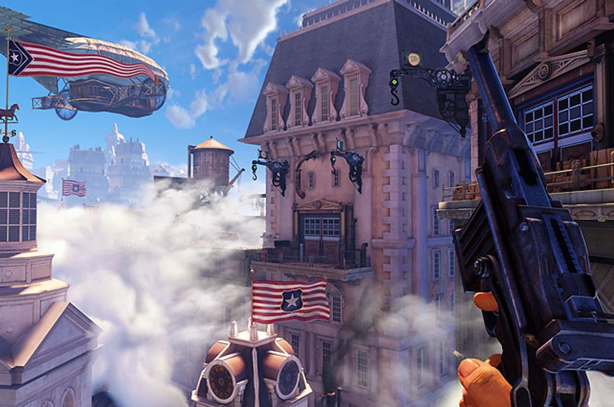 The video game Bioshock Infinite features exploring the airborne city of Columbia in 1912.