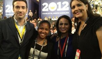 Former DNC spokesperson Karen Finney attends the 2012 Democratic National Convention in Charlotte, N.C. (Twitter, Karren Finney)