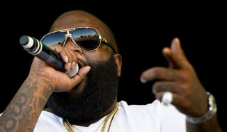 Rapper Rick Ross performs at the OpenAir music festival in Frauenfeld, Switzerland, in 2012. (AP Photo/Keystone/Ennio Leanza)